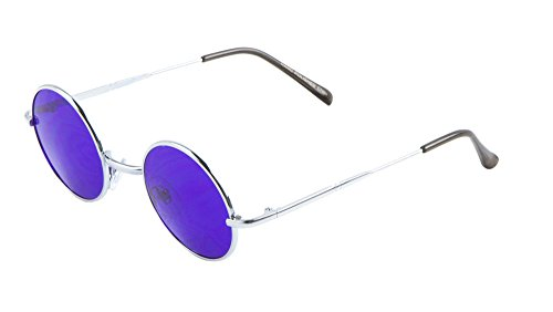 Tiny Small Round Sunglasses Color Tinted Lens (Purple, - Glasses Purple Tinted