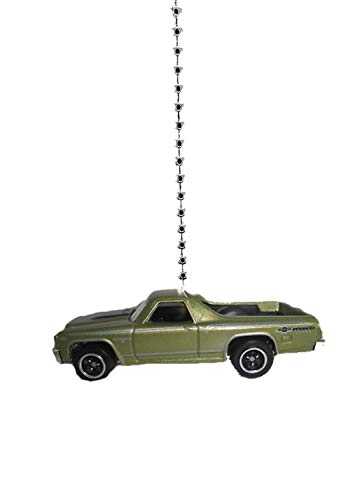 Chevy Diecast Car Ceiling Fan Light Pull & Ornament 1/64 Scale (1970 Green Chevy El Camino)