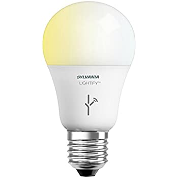SYLVANIA SMART+ A19 Tunable White LED Light Bulb, 60W Equivalent, Works with Amazon Alexa, SmartThings and Wink, 73674 (Formerly LIGHTIFY)