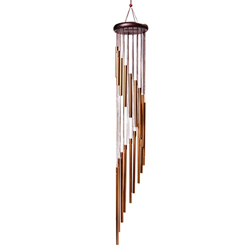 4-FQ Wind Chimes Outdoor, Wind Bells Outdoor Long Garden Chimes Amazing Grace Windchimes Outdoor Large Deep Tone for Home Garden Decoration (Golden)