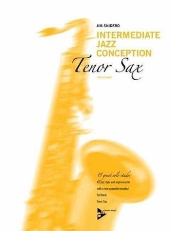 Jamey Snidero-Intermediate Jazz Conception for Tenor Sax-Book & CD