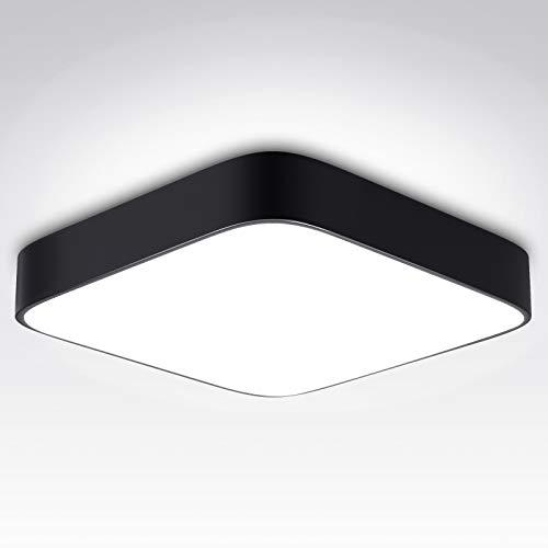 bedee LED Lámpara de Techo 24W, Plafon Led de Techo, 2040LM Luz Del Día Blanco 5000K Luz de Techo Cuadrado para Baño Dormitorio Cocina Sala Estar Comedor Balcón [Clase de eficiencia energética A++]