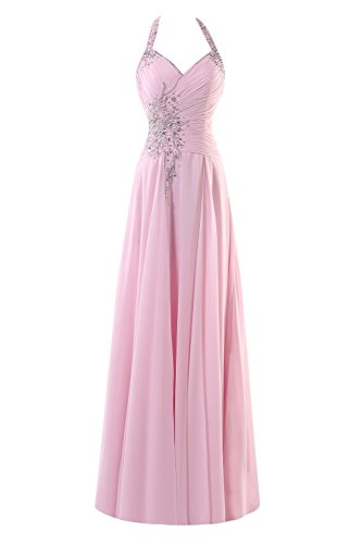Long Line Chiffon Beads Sage Halter Prom Dresses Women's Bridal A 2017 Bess 4xYOZO
