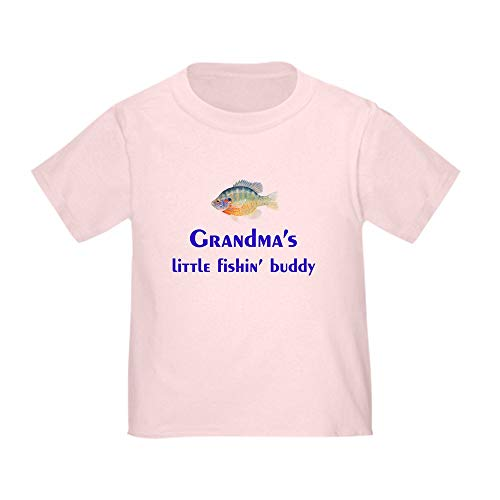 CafePress Grandma's Fishin' Buddy Toddler T Shirt Cute Toddler T-Shirt, 100% Cotton Pink