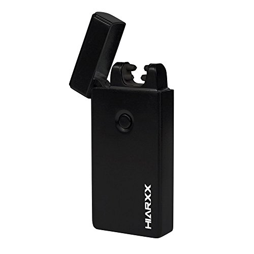 Price comparison product image HIARXX Electronic Lighter / DUAL Arc / USB Rechargeable Windproof Electric Plasma Lighter / Small Cigar / Cigarette / Candle Lighter / No Fluid Needed Like Zippo / Gift Box and USB Inc. (Black Ops)