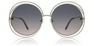 Chloe CE114S 770 Gold / Grey Carlina Round Sunglasses Lens Category 2 Size 62mm