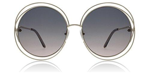 Chloe CE114S 770 Gold / Grey Carlina Round Sunglasses Lens Category 2 Size - Sunglasses Frame Round Chloe