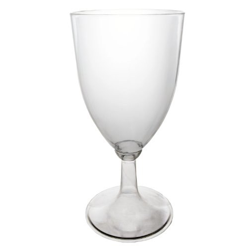 Party Wine Glass (Party Essentials WINEBOX-6 Hard Plastic Disposable 1-Piece Wine Glass, 8-Ounce Capacity, Clear (Case of 48))