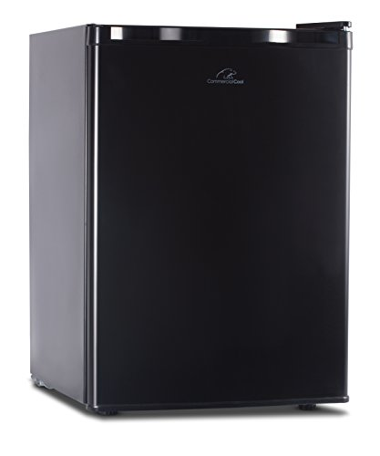 Commercial Cool CCR26B Compact Single Door Refrigerator and Freezer, 2.6 Cu. Ft. Mini Fridge, Black