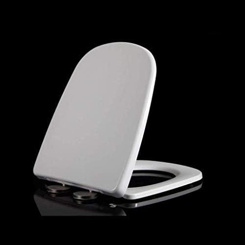 CXMMTGトイレのふた 厚み付けソフトクローズリリースで便座は、台形便座のために抗菌トップマウントWC-シートヒンジホワイト、40〜47 * 36.5センチメートル CXMWY-4W0Y2