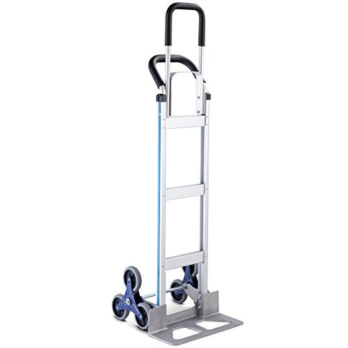Goplus Stair Climbing Cart Heavy Duty Aluminum Climber Dolly w/6 Wheels Portable Hand Truck by Goplus (Image #1)