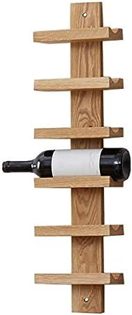 gongxi Vinoteca De Pared De Roble Macizo | Botellero De Pared para Vino | Moderno Jardín Restaurante Estante De Almacenamiento Soporte De Pared Soporte De Botella De Vino Tinto con Champán