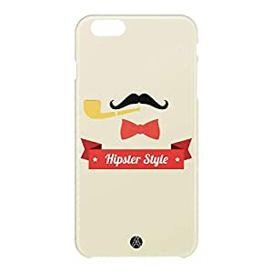 Loud Universe Apple iPhone 6 Plus 3D Wrap Around Hipster Style Print Cover - Beige