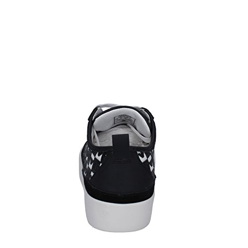 Armani Jeans Sneakers Mujer 38 Eu Blanco / Negro Tejido / Caucho / Gamuza
