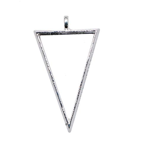 (JETEHO 20pcs 30x20mm Triangle Framework Open Back Pendant Bezels for Resin and Jewelry Making)