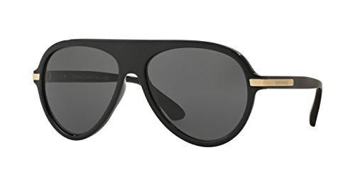 Versace 4321 GB1-87 Black 4321 Aviator Sunglasses Lens Category 3 Lens (Gb1 Lens)