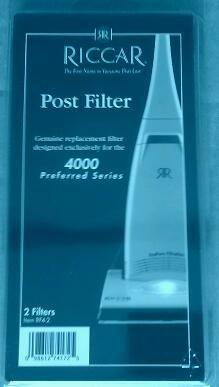 Genuine Riccar 4000 Series Post Filter, RF4-2 (2 pack)