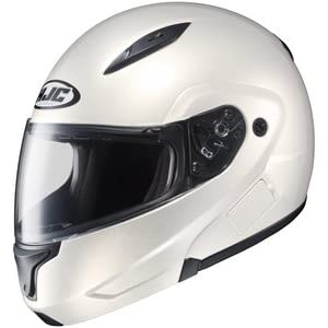 Hjc CL-MAX CLMAX FLIP-UP 2 Pearl White SIZE:LRG Full Face Motorcycle Helmet