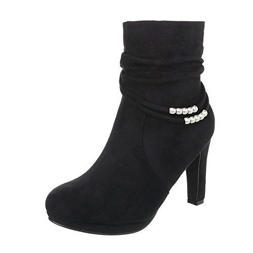 Zapatos para mujer Botas Tacón de aguja Botines de tacón Ital-Design Negro