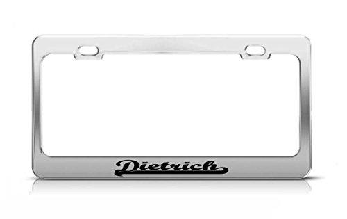 Metal Framing Dietrich - Dietrich Last Name Ancestry Metal Chrome Tag Holder License Plate Cover Frame