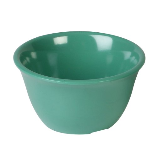 Color green melamine dinnerware collection 4 inch bouillon cup - 7 oz, comes in dozen