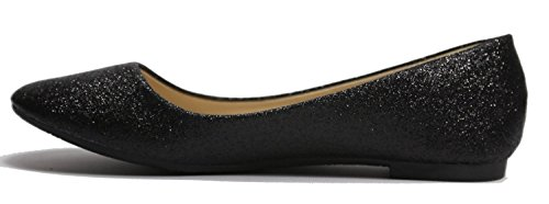 Max Collection May Women Ballet Flat Shoes All Colors Glitter-black lMTQdAjn
