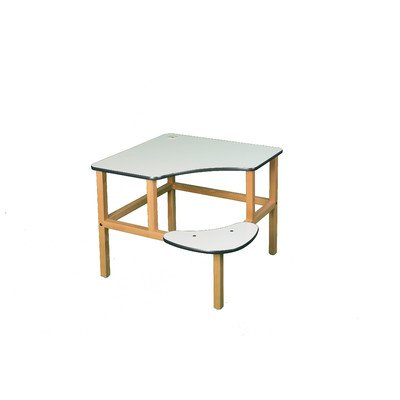 Adventure Series 23'' Children's Corner Writing Desk Surface Color: White, Edge Trim Color: Green by Wild Zoo
