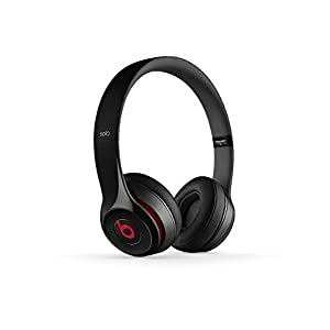 Beats Solo 2 WIRED On-Ear Headphone NOT WIRELESS – Black (Renewed)