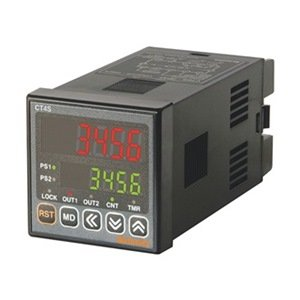 AUTONCIS CT4S-2P4 Counter&Timer, 1/16 DIN, 4 Digit, LED, 2 Preset, 2 Relay & 1 NPN Output,100-240 VAC 2 Preset Counter