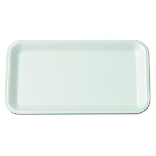 Genpak 17SWH 8-1/4-Inch Length by 4-3/4-Inch Width by 1/2-Inch Height White Color Foam Meat Standard Supermarket Food Tray 125-Pack (Case of 4) ()