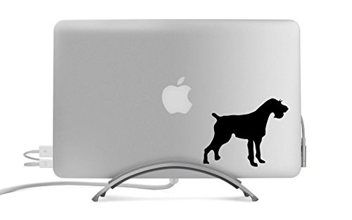 German Wirehaired Pointer Dog Silhouette Five Inch Black Decal for Car, Truck, MacBook, Laptop, Etc.
