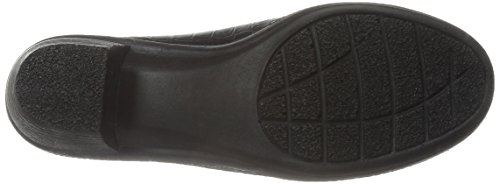 Easy Street Mujeres Sly Mule Black Patent Cocodrilo / Gore