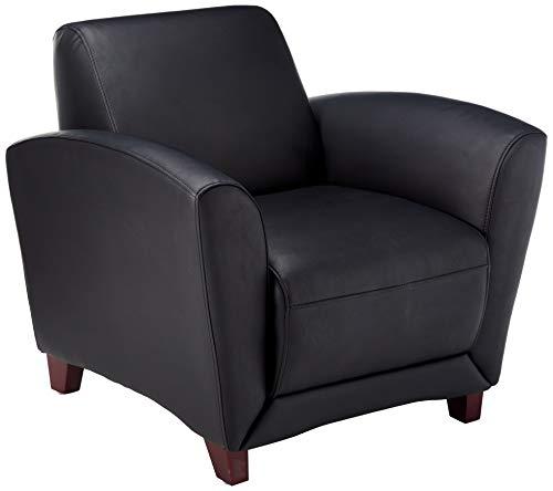 Lorell LLR68952 Leather Reception Club Chairs, 42