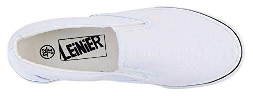 Ujoowalk Vrouwen Canvas Slip Op Mode Sneaker Skate Schoen Blauwachtig Wit