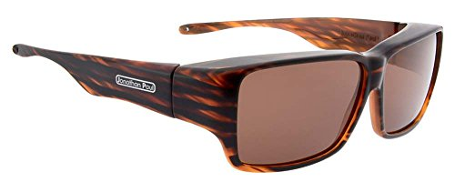 Jonathan Paul Fitovers Oogee Large Bark Polarized Amber Sunglasses - Bark Glass
