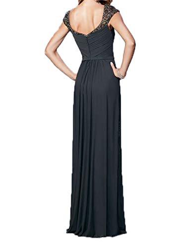 Ballkleider Abendkleider Dunkel Elegant Charmant Promkleider Gruen Kurzarm Pailletten Damen lang Brautmutterkleider U1IxxqYRWw