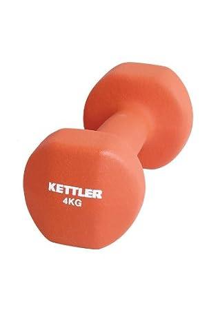 Kettler - Juego de Mancuernas sw Neopreno Rojo Rojo Talla:4 kg ...