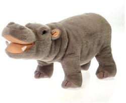 (Fiesta Toys Standing Hippo Hippopotamus Plush Stuffed Animal, 14