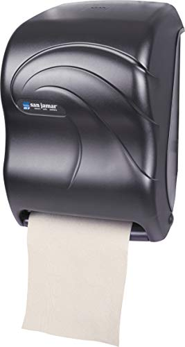 (San Jamar T1390TBK Electronic Touchless Roll Towel Dispenser, 11 3/4 x 9 x 15 1/2, Black)