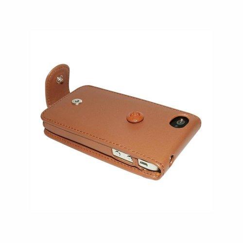 Piel Frama U502C Case Snap Closure Ledertasche für Apple iPhone 4/4S hellbraun