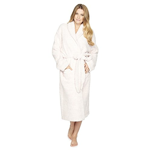 - Barefoot Dreams Cozychic Heathered Adult Robe Dusty Rose-White, Size 3