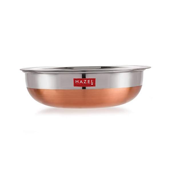 Hazel-Alfa-Premium-Heavy-Gauge-Stainless-Steel-Tasra-Kadhai-Cookware-with-Copper-Bottom-1-LTR-Silver-Copper