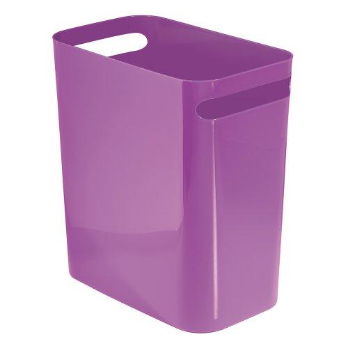 InterDesign Una Wastebasket Trash Purple