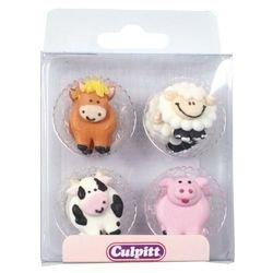 (Farm Animal Cake Decorations)