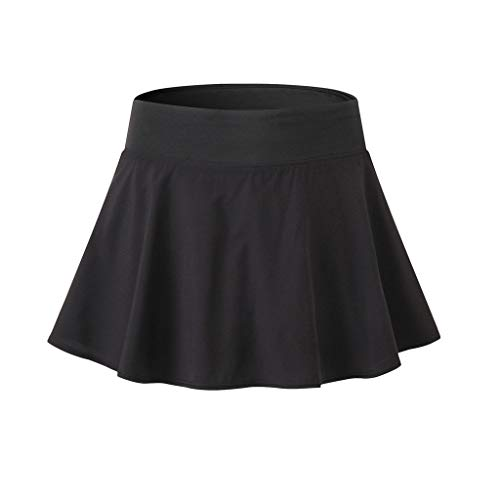 Mikey Store Womens Active Skorts Skirt Solid Running with Built in