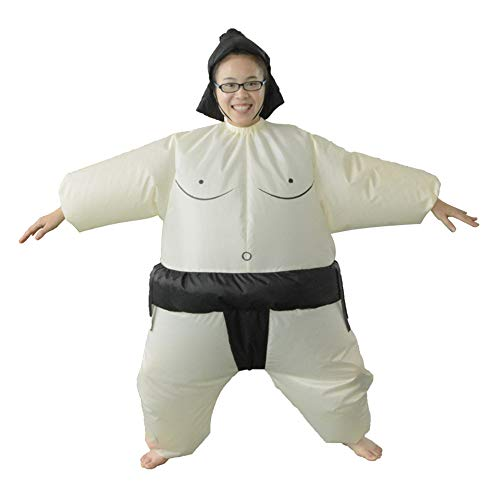 HUAYUARTS Men's Inflatable Costume Boys Giant Blow up Party Halloween Christmas Child Sumo Cosplay