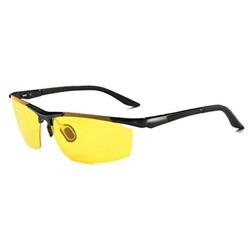 Advanced Trendy Personality Polarized Uv Protection Night Vision Goggles Sport Riding Sunglasses(C7) (Ray-bans Gläser Für Kinder)