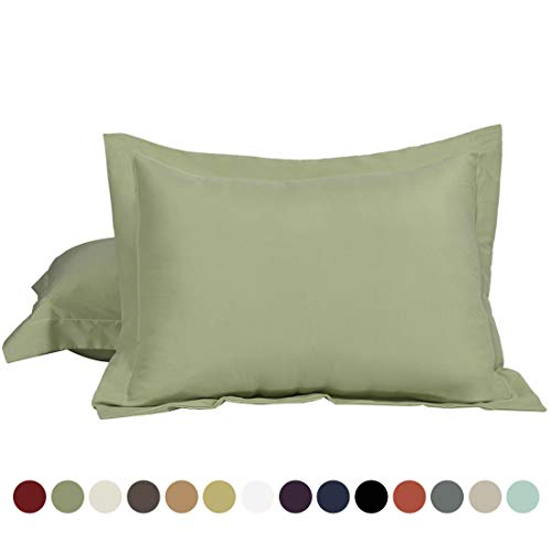 Find Discount uxcell 100% Brushed Microfiber Standard Pillow Shams Set of 2, Wrinkle, Fade, Stain Re...