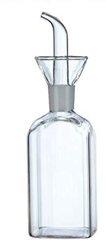 Oil 5 Oz Glass Bottle - ELETON Square Olive Oil Dispenser Oil Bottle Glass Dispensing Bottles for Kitchen - Olive Oil Glass Dispenser to Control Cooking Vegetable Oil and Vinegar