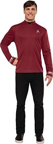 Rubie's Men's Star Trek: Beyond Scotty Deluxe Costume Shirt, Red, (Spock And Uhura Halloween Costume)